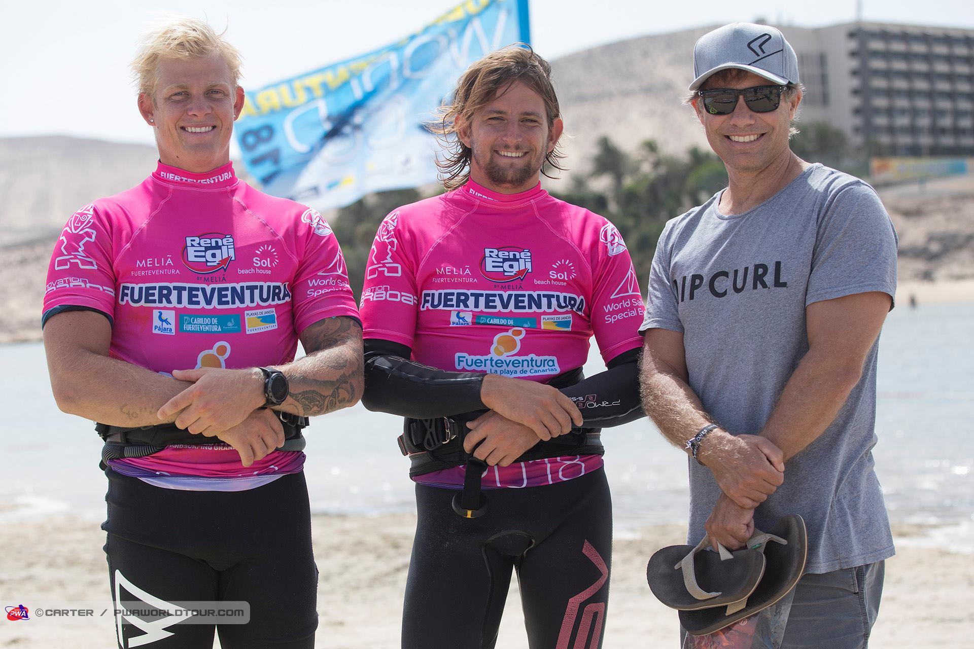 Ben Severne war ebenfalls auf Fuerteventura.