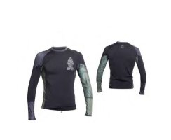 Mens Stealth Rashie Lycra Long Sleeve M